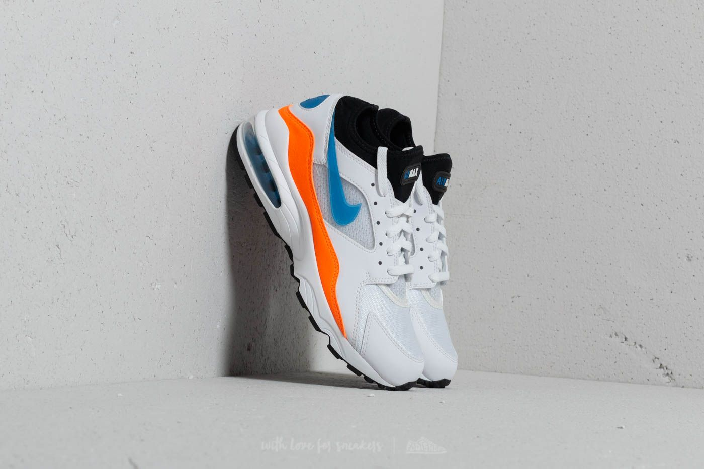 outlet store 93b13 3e641 Nike Air Max 93 White  Blue Nebula-Total Orange at a great price 143