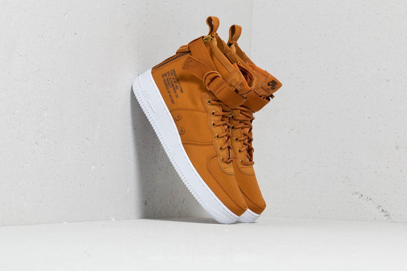 sneakers for cheap a1c5a 464cc Nike SF Air Force 1 Mid Desert Ochre/ Sequoia-White | Footshop