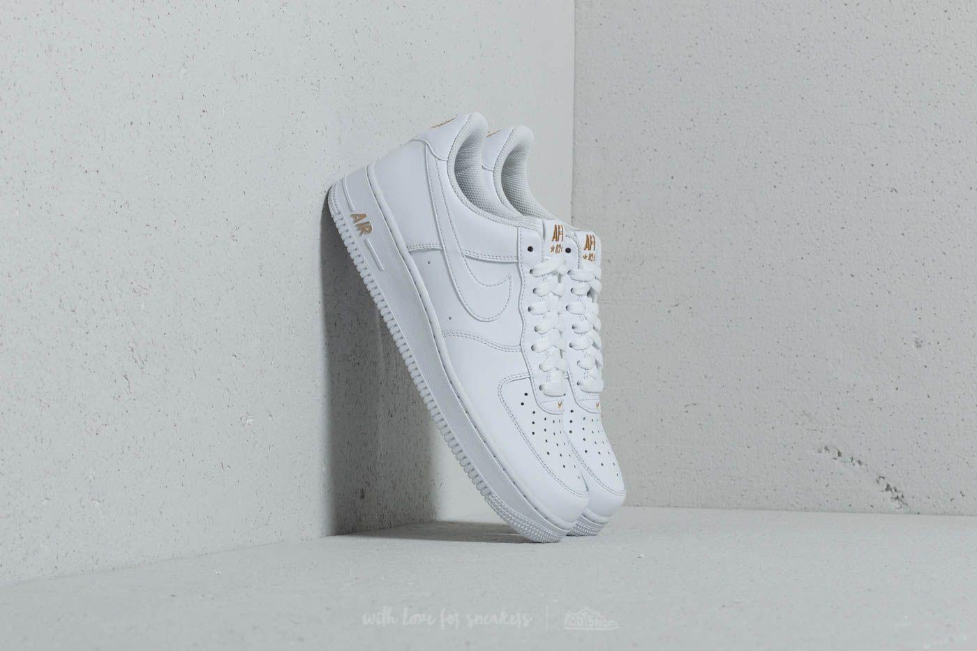 46a6c2263140 Nike Air Force 1  07 White  White-Metallic Gold