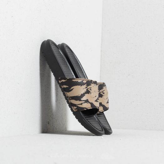 3ae55a92157c Nike Benassi JDI Khaki  Khaki-Velvet Brown-Black