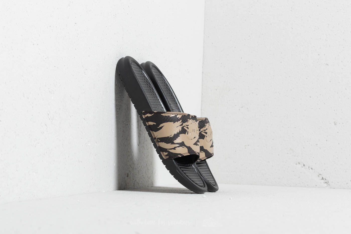 Nike Benassi JDI Khaki/ Khaki-Velvet Brown-Black