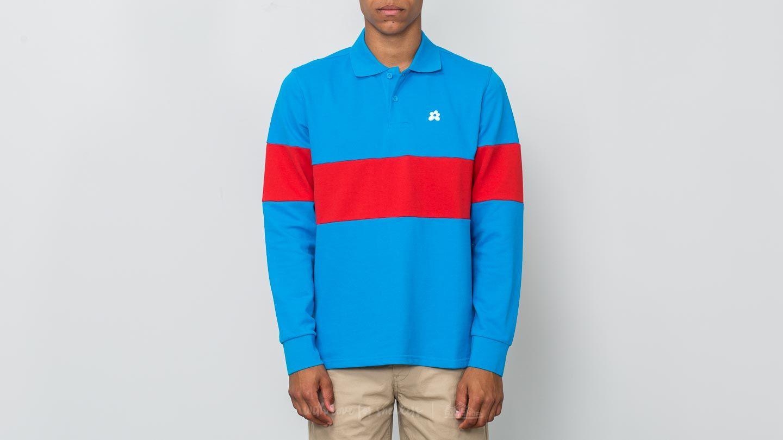 Converse Golf Le Fleur Polo Longsleeve Tee Blue Red Footshop