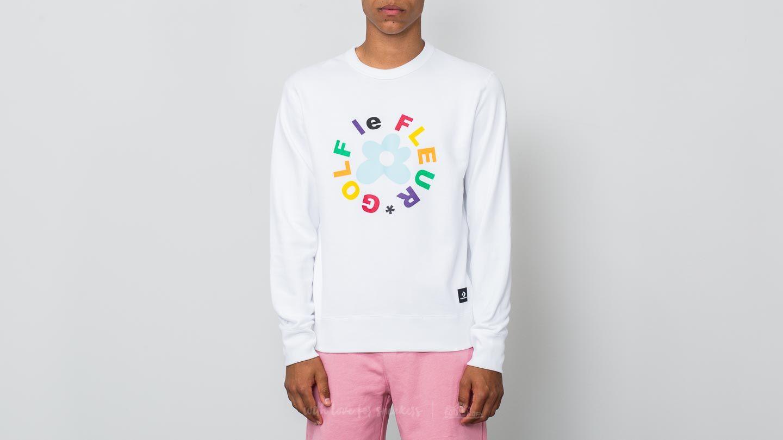 8bb365c8f816 Converse Golf Le Fleur Crew Sweatshirt White