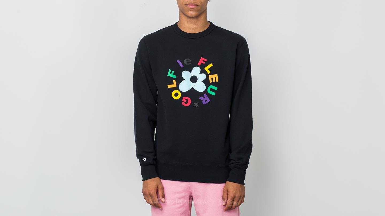 Converse Golf Le Fleur Crew Sweatshirt Black | Footshop