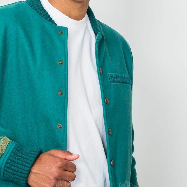 Hadrian Holtz Letterman Jacket Green