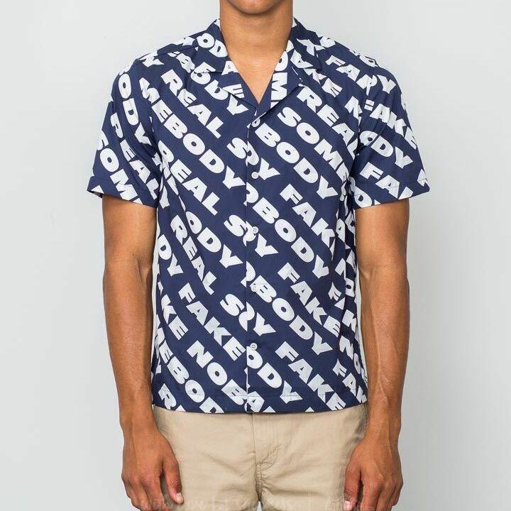 WOOD WOOD Brandon Shirt Navy Nosome, Blue