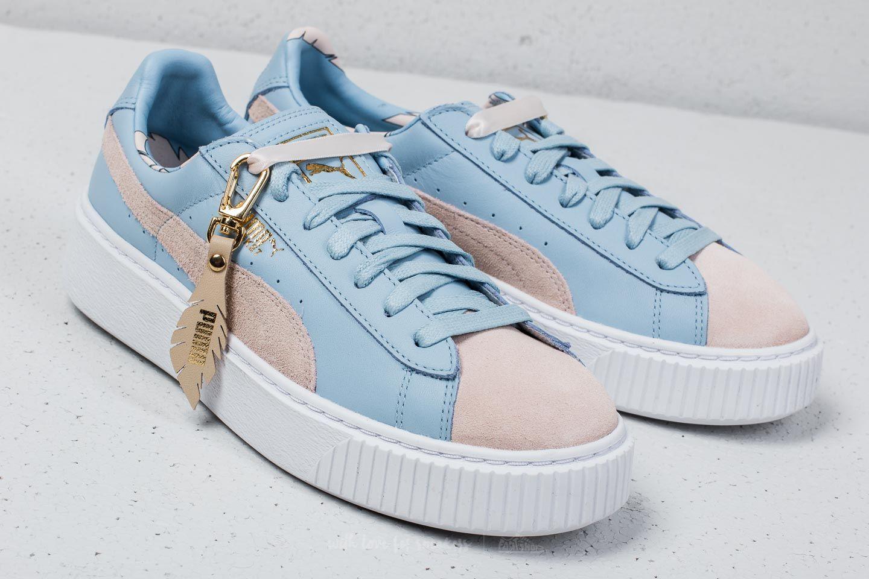 Details zu Puma Basket Platform Coach W'ns FM silver peony cashmere blue EU 37,5, Frauen