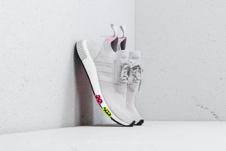 Pánské tenisky a boty adidas NMD_Racer Primeknit Grey One/ Grey One/ Solar Pink