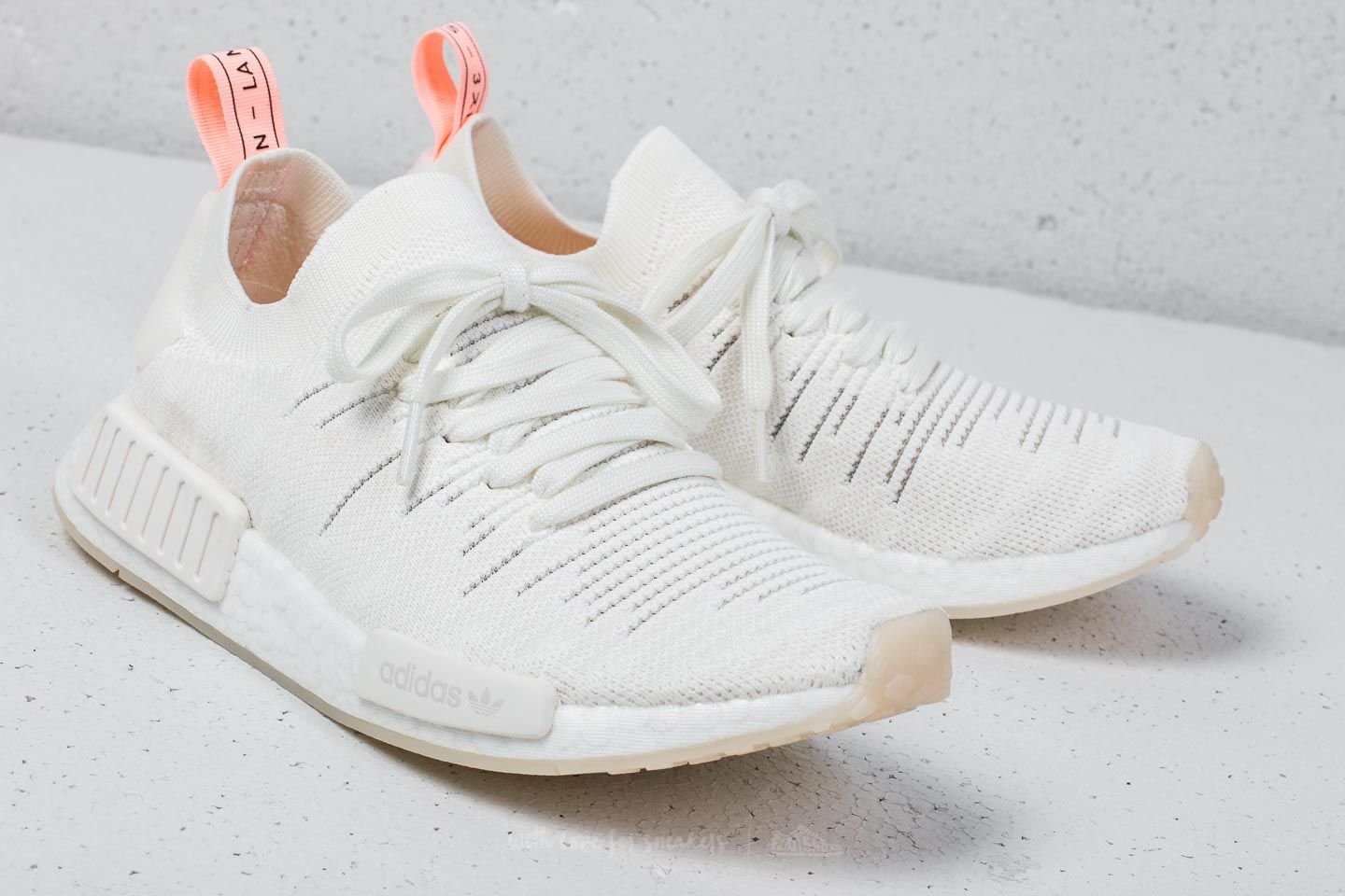 check out 40333 91539 adidas NMD_R1 STLT Primeknit W Cloud White/ Cloud White ...