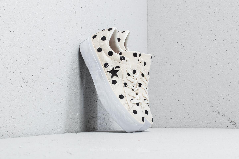 Converse One Star Platform Ox Egret  Black  White  3c089fad6