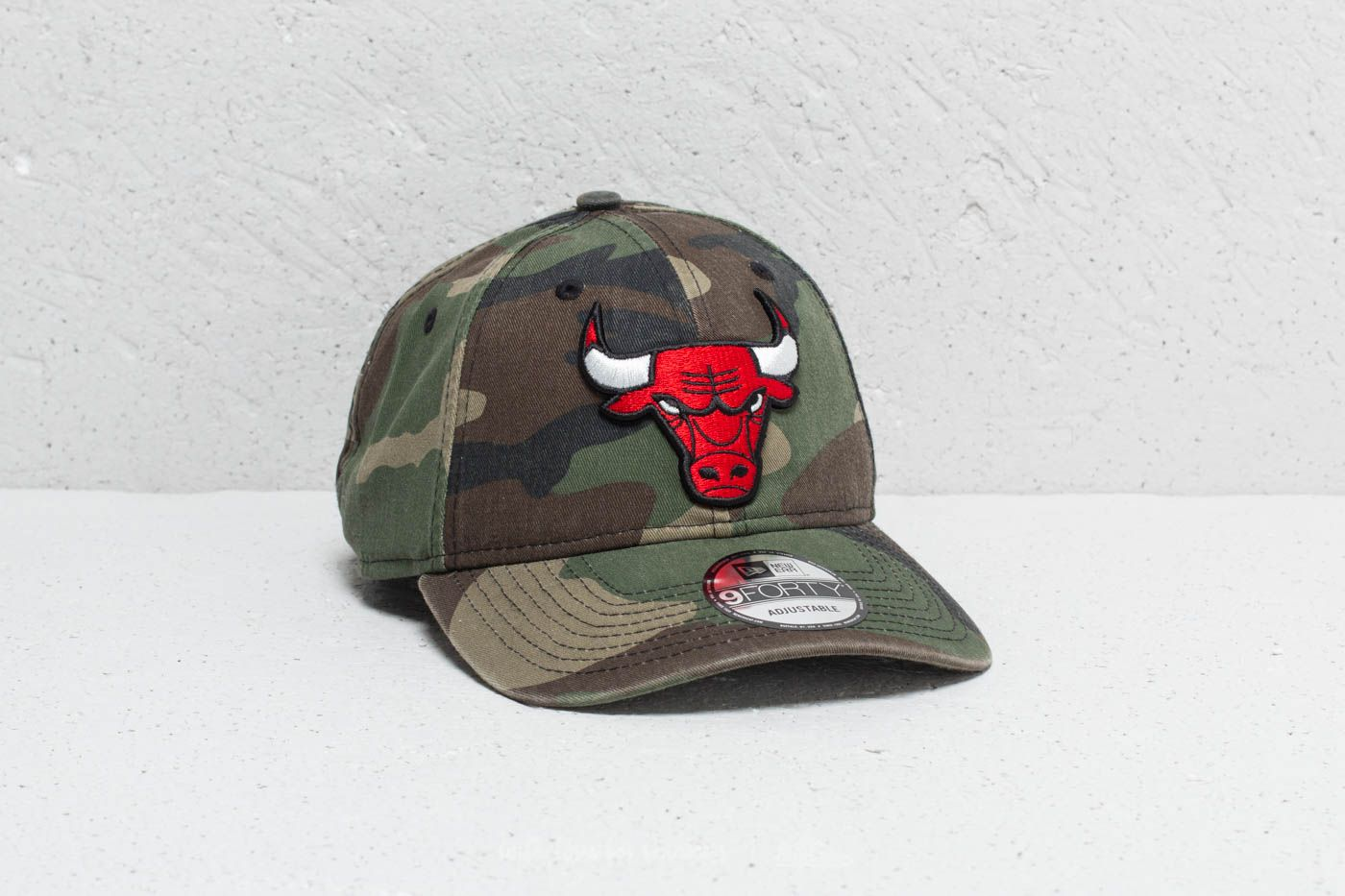 4a7baa7a05a New Era 9Forty NBA Chicago Bulls Cap Washed Camo