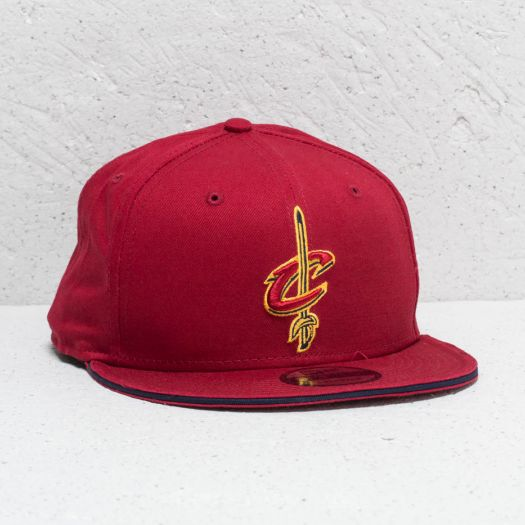 a11aaa329fd New Era 9Fifty Felt Script Cleveland Cavaliers Cap Burgundy