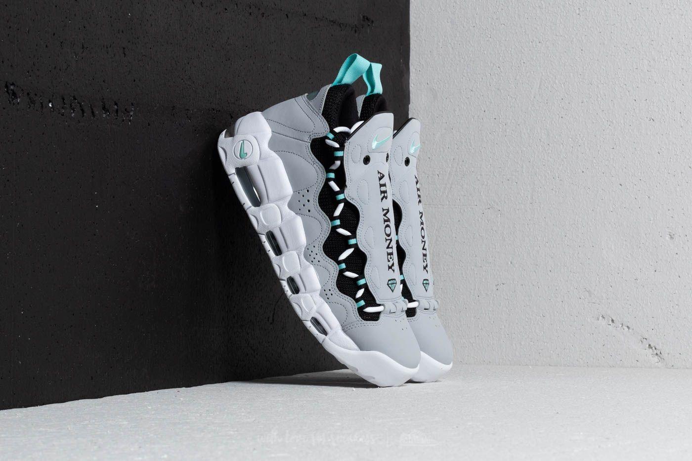 reputable site 17e0a 91700 Nike Air More Money. Wolf Grey  Island Green-Black