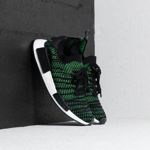 separation shoes 4be62 fe192 adidas NMD_R1 STLT Primeknit Black/ Green/ White | Footshop