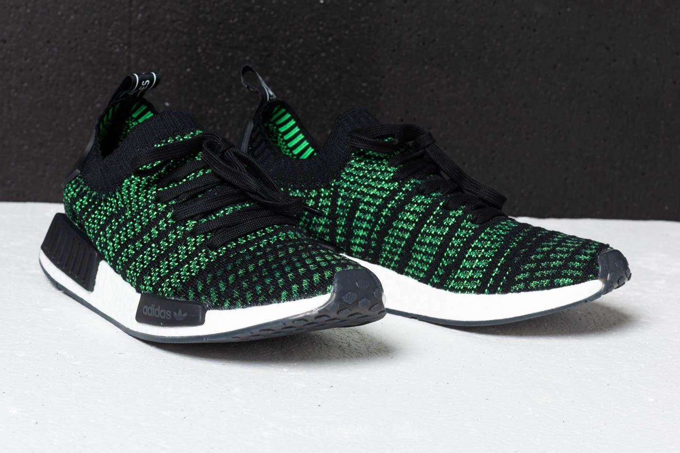 Adidas Nmd R1 Stlt Primeknit Black Green White Footshop