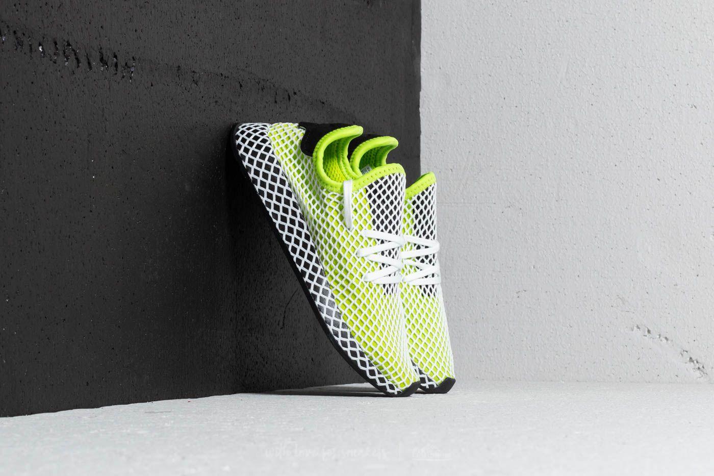 0686259ed704e adidas Deerupt Runner J Semi Solar Slime  Core Black  Ftw White ...