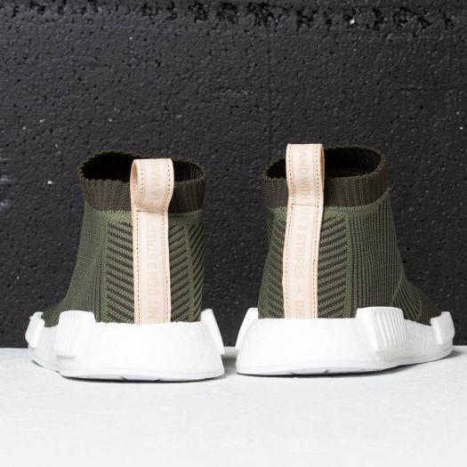 adidas NMD_CS1 Primeknit Khaki Olive White | Footshop