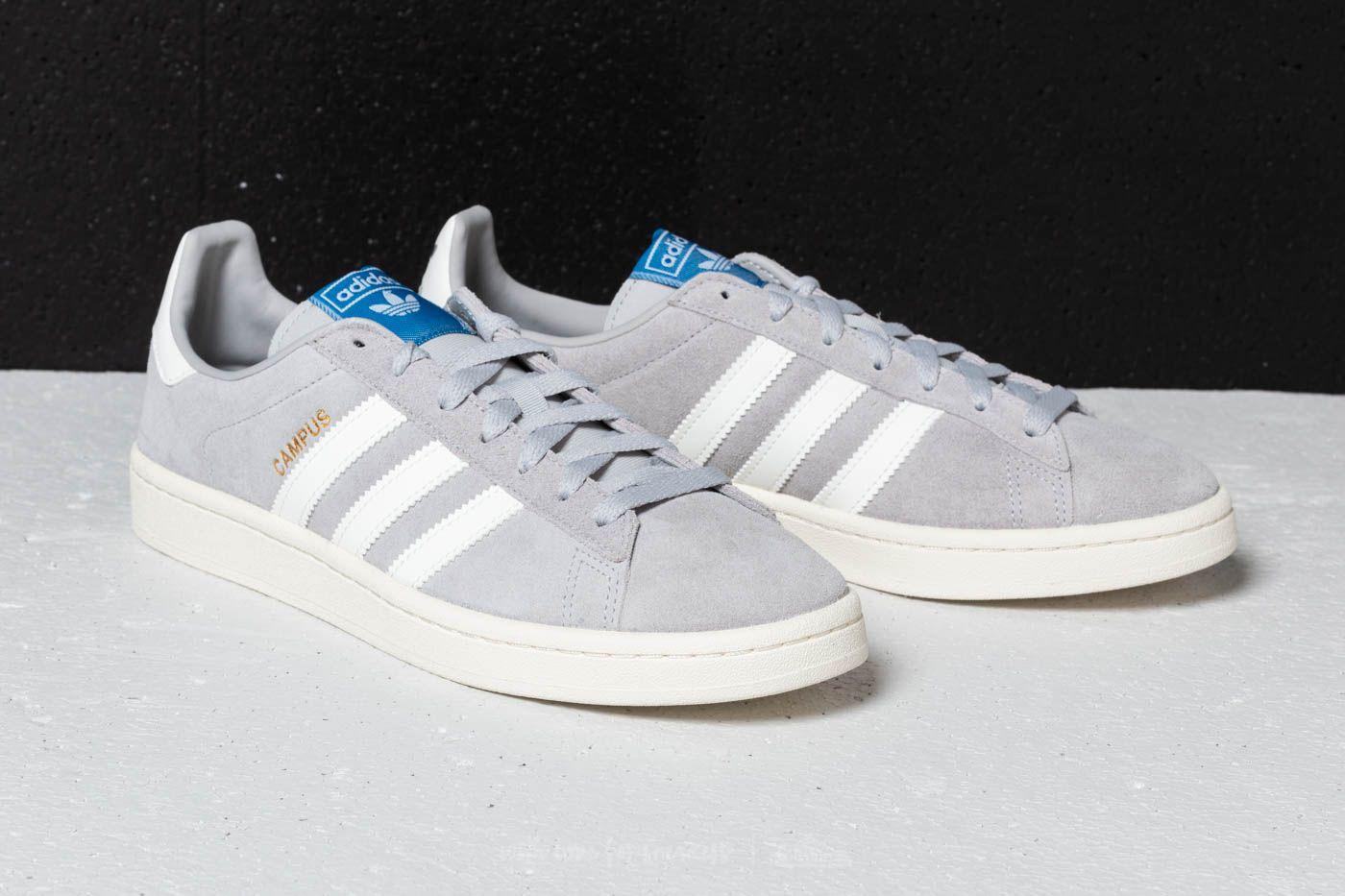 Pinchazo télex Enciclopedia  Men's shoes adidas Campus Grey Two/ Cloud White/ Chalk White | Footshop