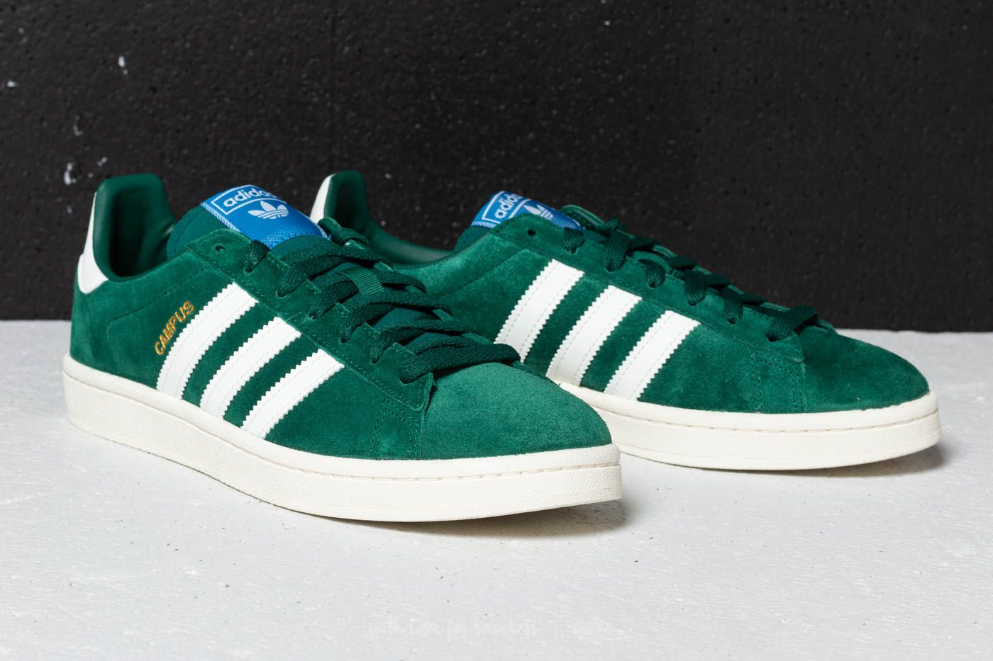 Adidas Campus Collegiate Green Cloud White Chalk White Footshop