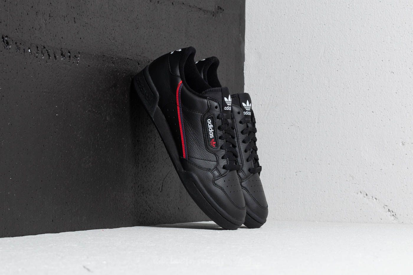 adidas Continental 80 Core Black Scarlet Collegiate Navy | Footshop