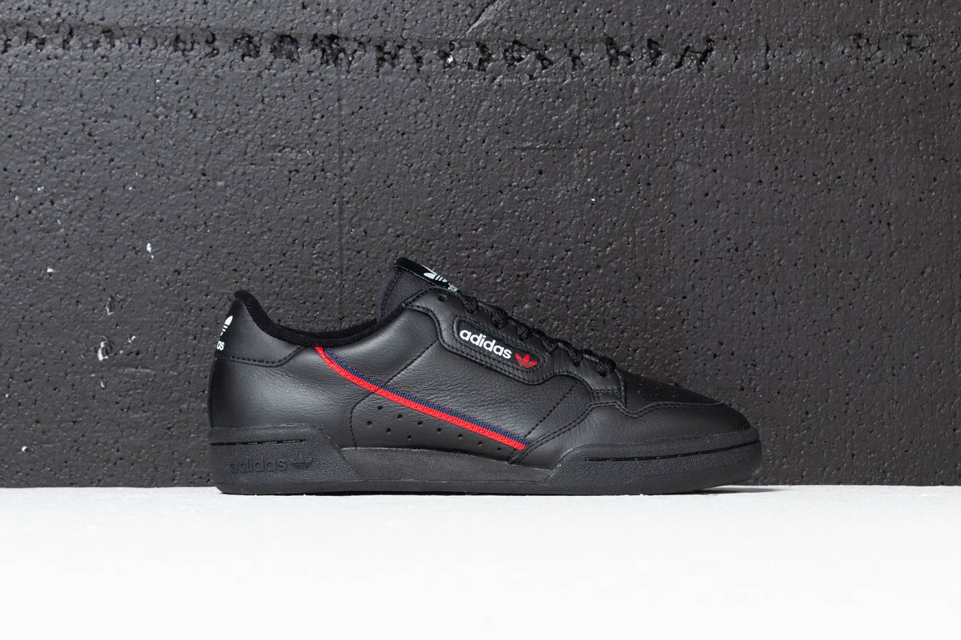 a2f3ee95610 adidas Continental 80 Core Black  Scarlet  Collegiate Navy at a great price  99 €