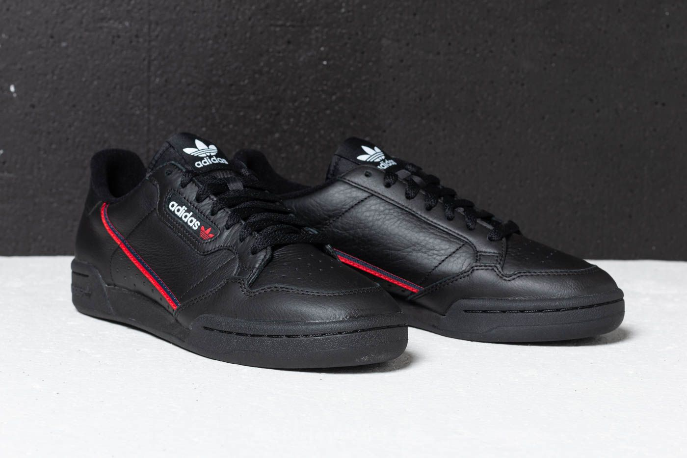 adidas Continental 80Core Black Scarlet Collegiate Navy
