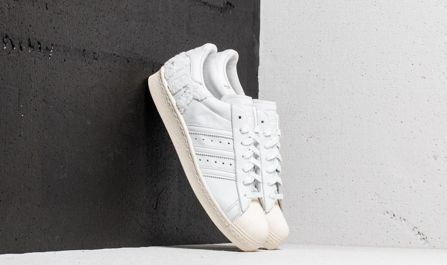 adidas Superstar 80s Crystal White/ Crystal White/ Off White