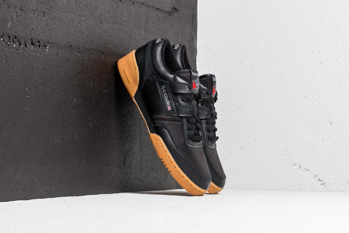 8ccd00cc761 Reebok Workout 85 TXT Black  Carbon  Red  Gum at a great price 54