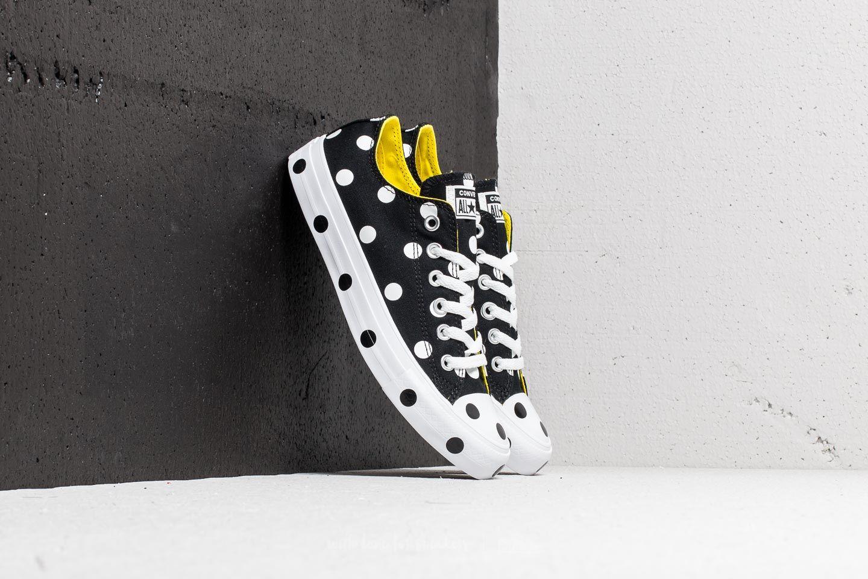 Converse Chuck Taylor All Star Ox Black  White  Fresh Yellow  1fae9dd0c5cd1