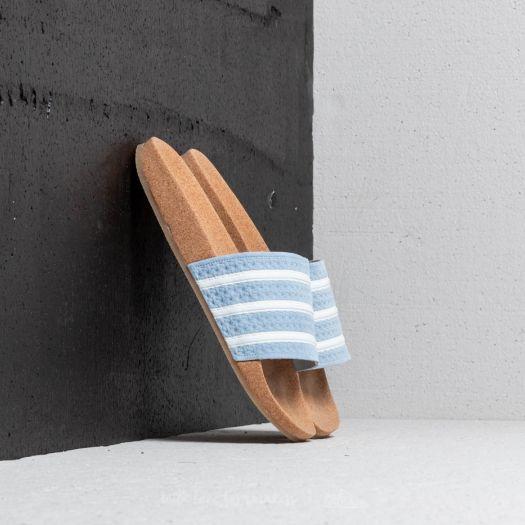 adidas Adilette Cork W Ash Blue Ftw White Gum   Footshop