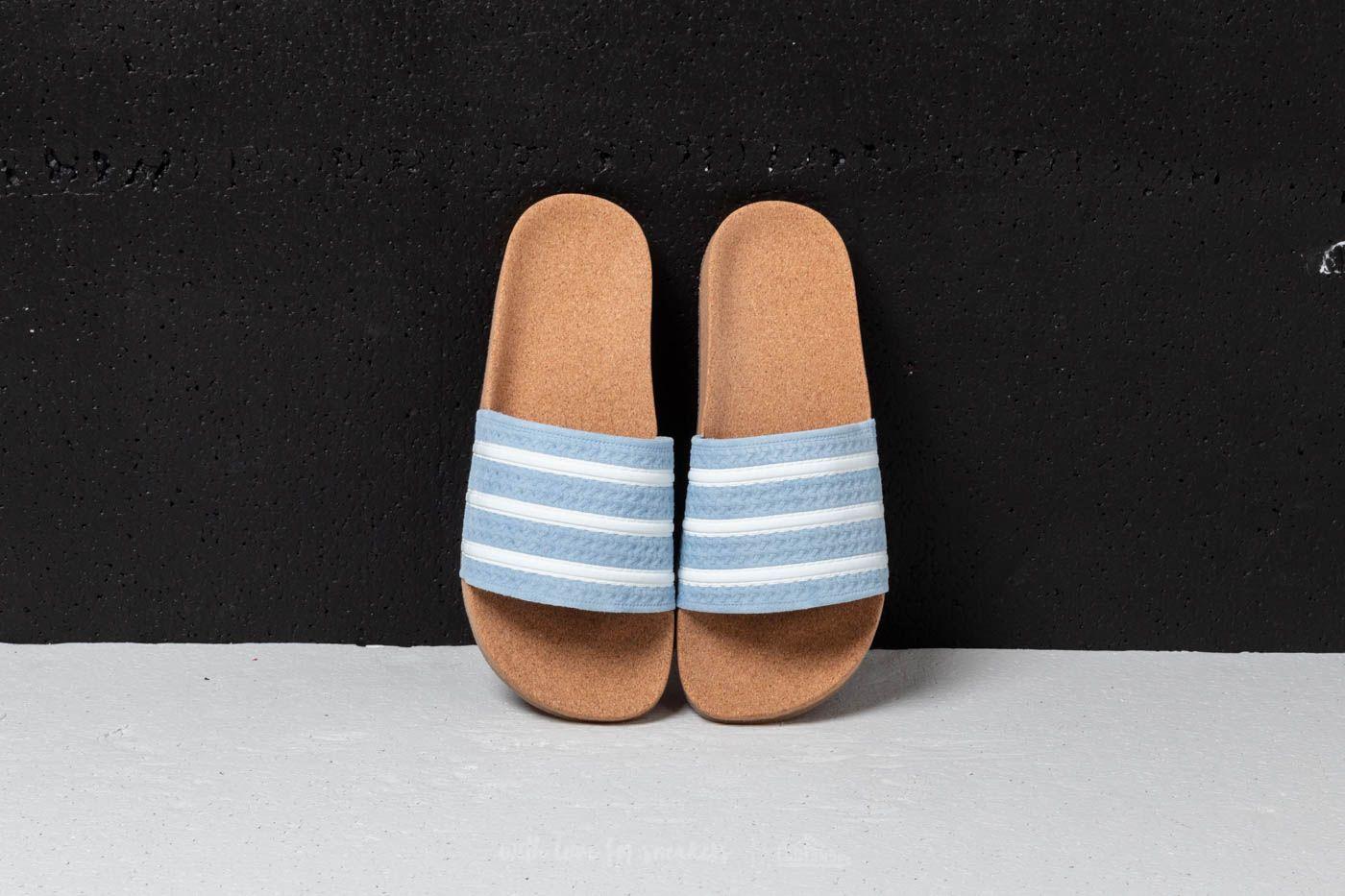 adidas Adilette Cork W Ash Blue Ftw White Gum | Footshop