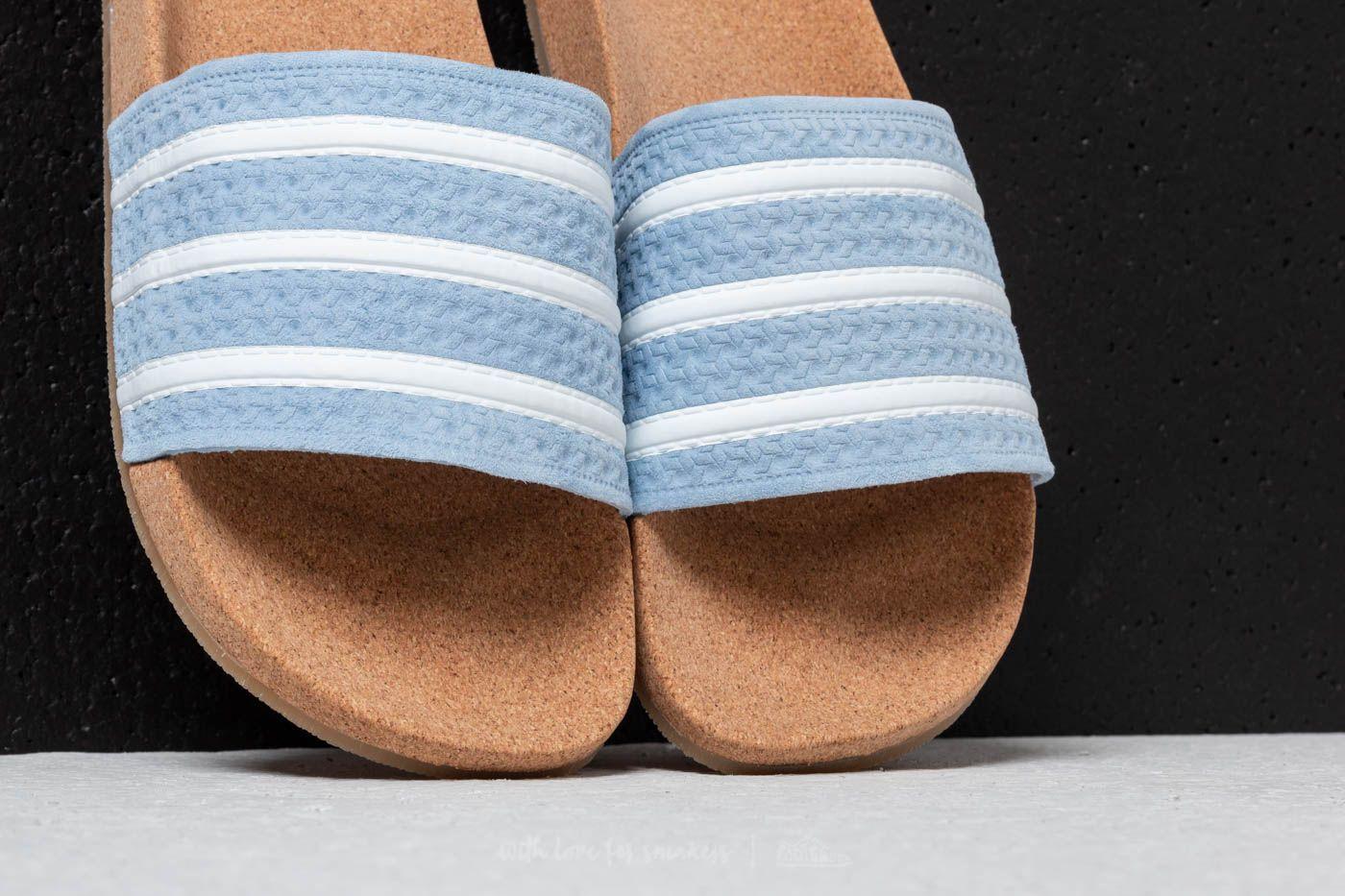 adidas originals adilette cork ash blue