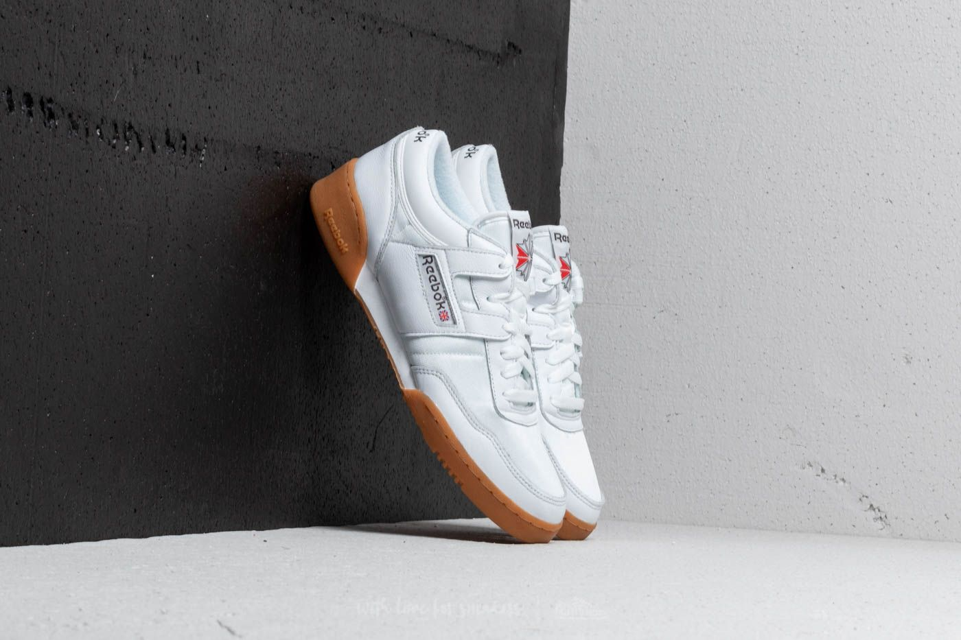 58ca280a4a0 Reebok Workout 85 TXT White  Grey  Red  Gum at a great price £