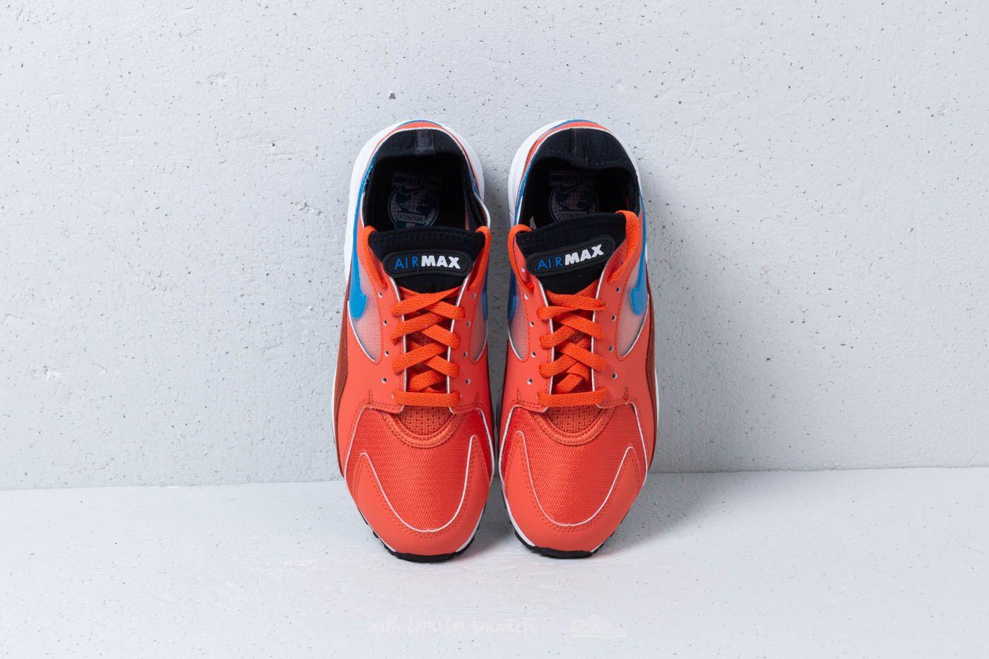 Fábula Larry Belmont Principiante  Men's shoes Nike Air Max 93 Vintage Coral/ Blue Nebula