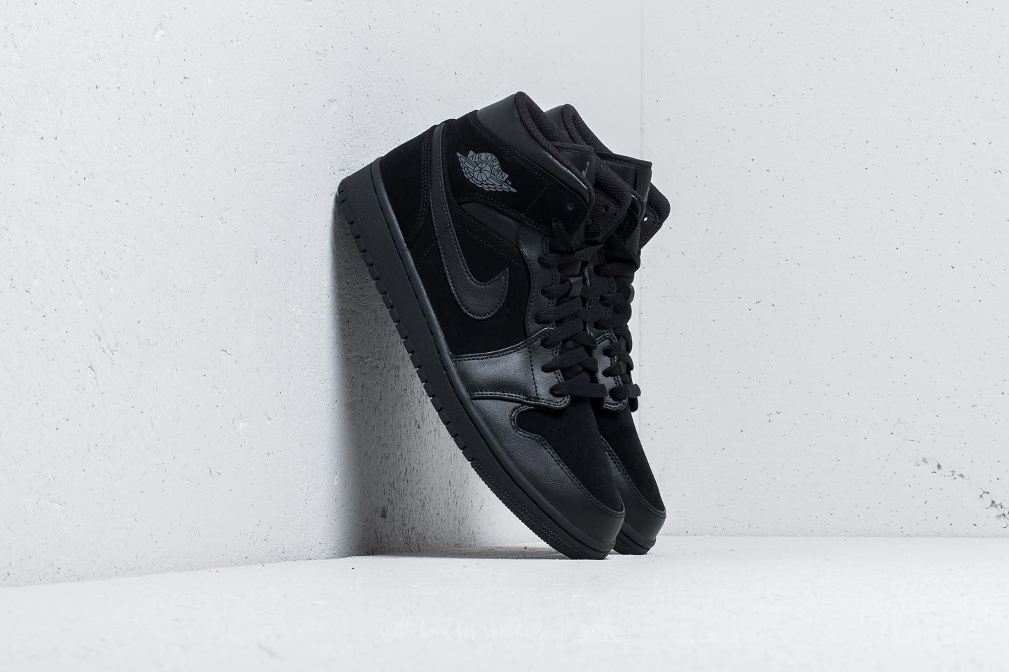 Air Jordan 1 Mid Black/ Dark Grey-Black