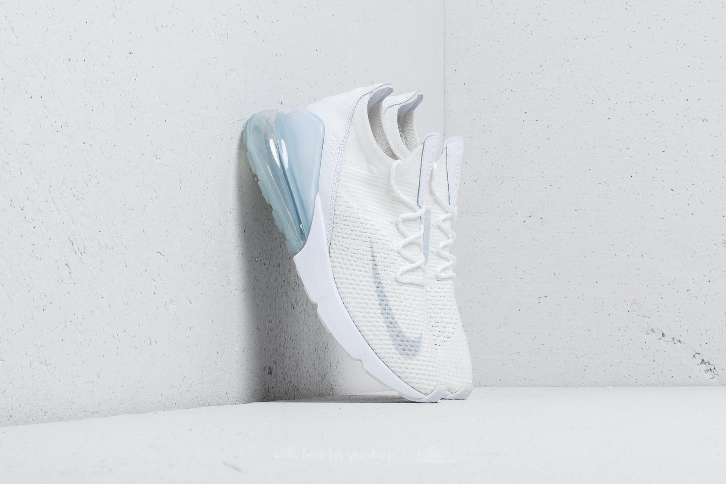 the latest e5cea f7023 Nike Air Max 270 Flyknit White/ Pure Platinum-White | Footshop