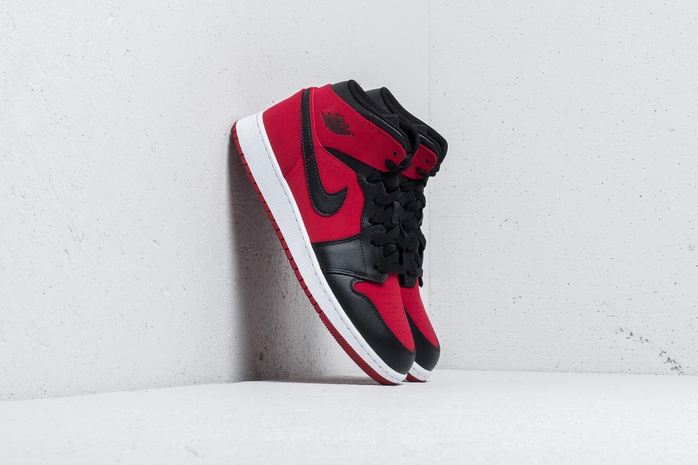 Air Jordan 1 Mid BG Gym Red  Black-White  dcfee2c3b5