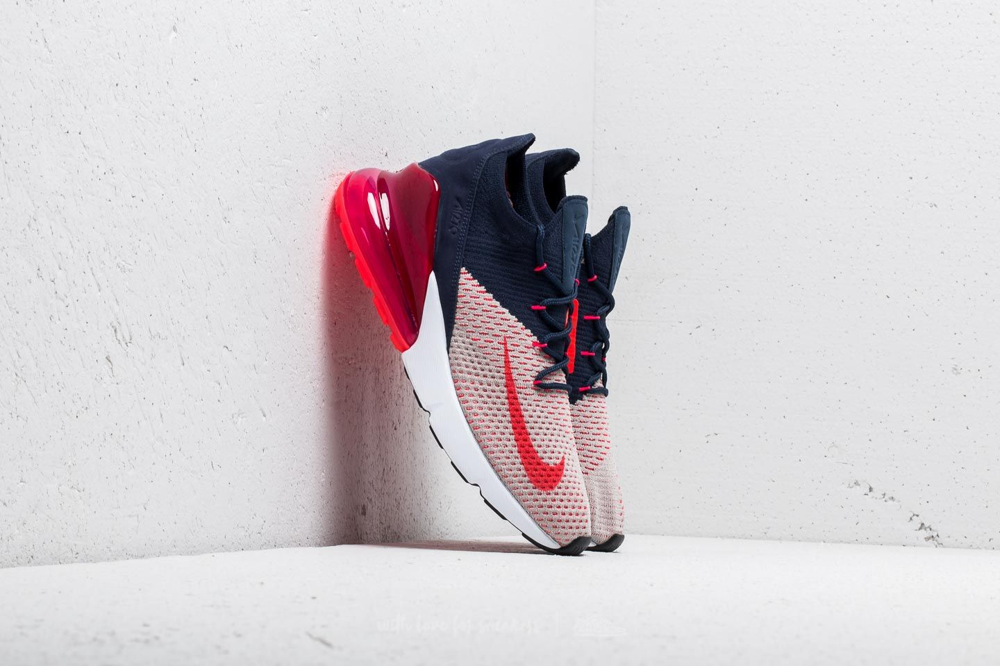 9ffb68bb58 Nike Wmns Air Max 270 Flyknit Moon Particle/ Red Orbit | Footshop