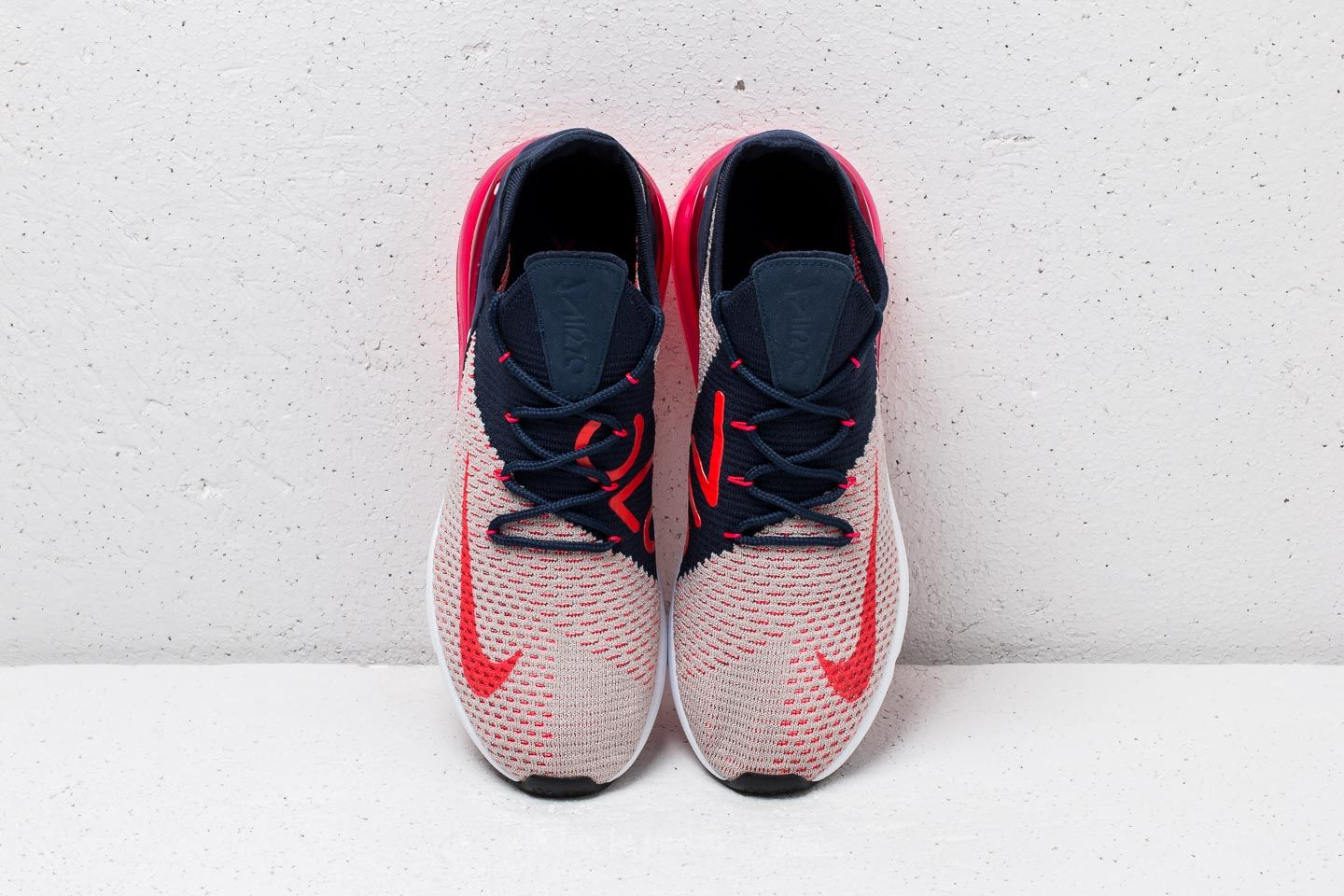 Nike Wmns Air Max 270 Flyknit Moon Particle Red Orbit | Footshop