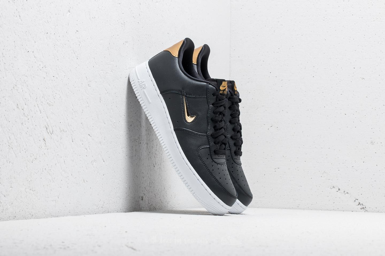 58c7b0174e164e Nike Air Force 1  07 LV8 Leather Black  Metallic Gold-White