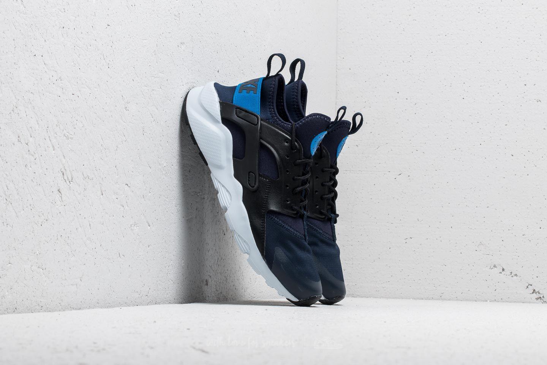 11a1c125898d Nike Air Huarache Run Ultra GS Obsidian  Signal Blue-Black