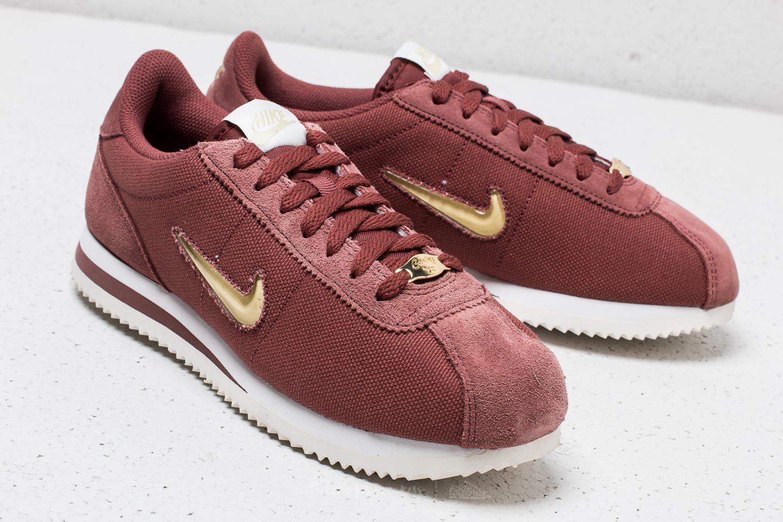 best cheap 77862 03138 Nike Cortez Basic Jewel ´18 WMNS Red Sepia/ Metalic Gold ...