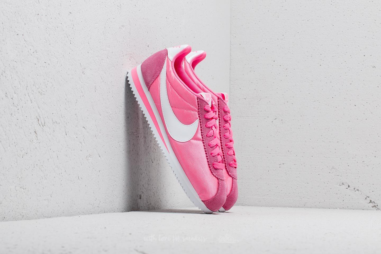295ed6b1ce6 Nike Wmns Classic Cortez Nylon Laser Pink  White