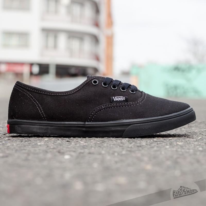 Vans Authentic Lo Pro Black Black   Footshop