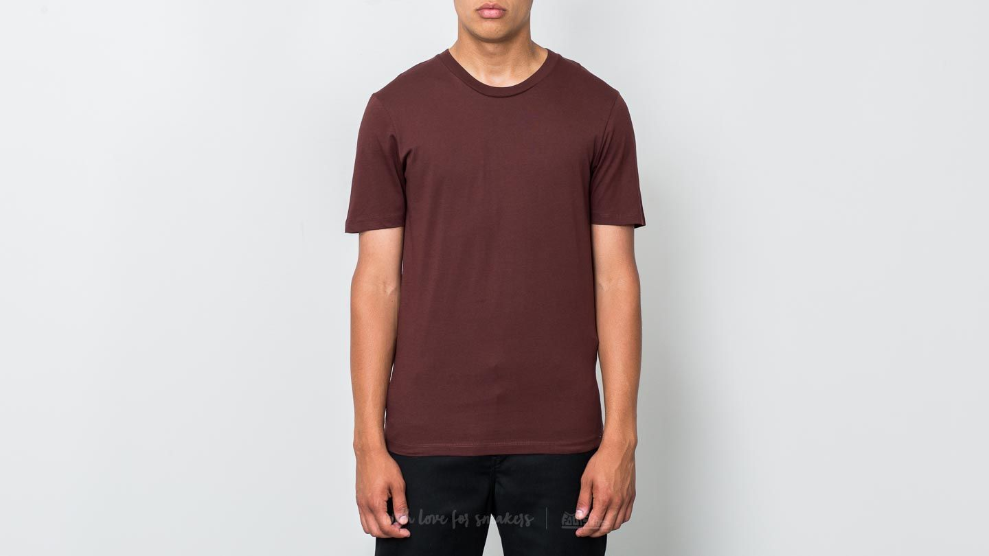 SELECTED The Perfect Shortsleeve O-Neck Tee Bitter Chocolate