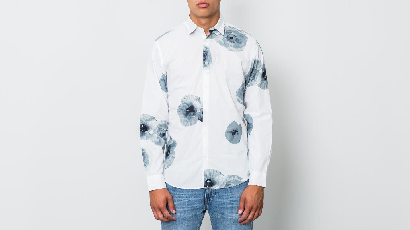 SELECTED Slimbig Flower Longsleeve Shirt