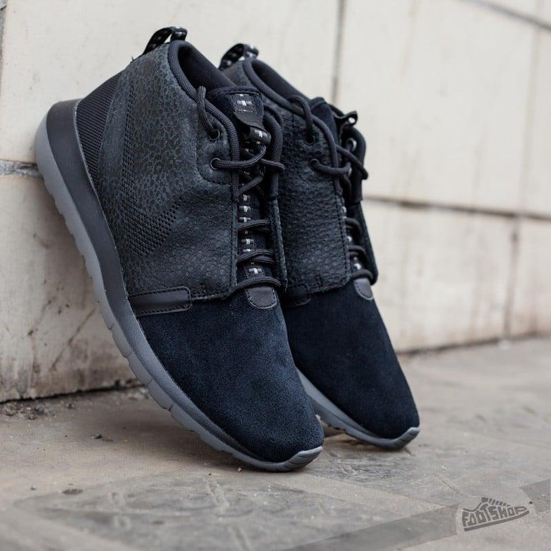 best service 05006 a58c2 Nike Rosherun NM Sneakerboot SAF Black Dark Grey