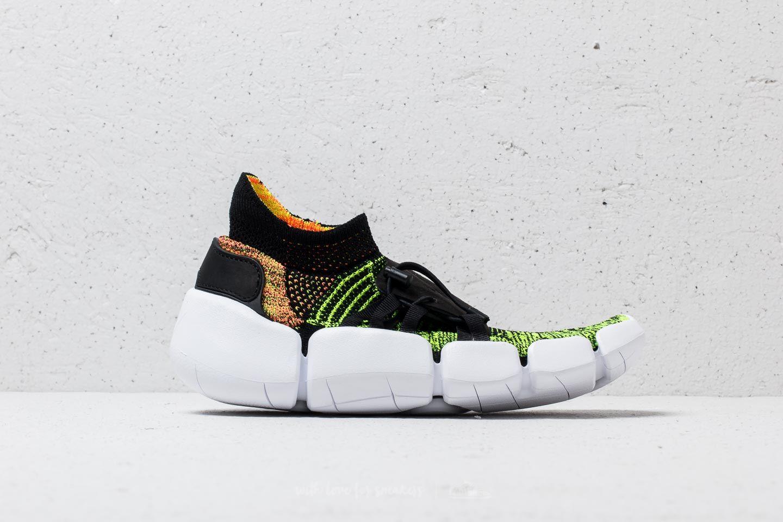 low priced 9b9f1 c351d Nike Footscape Flyknit DM Black  Black-Volt-Bright Mango au meilleur prix  158