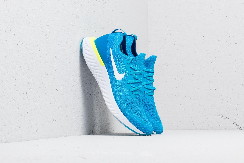 Nike Epic React Flyknit Blue Glow  White-Photo Blue  5fcf96d2e