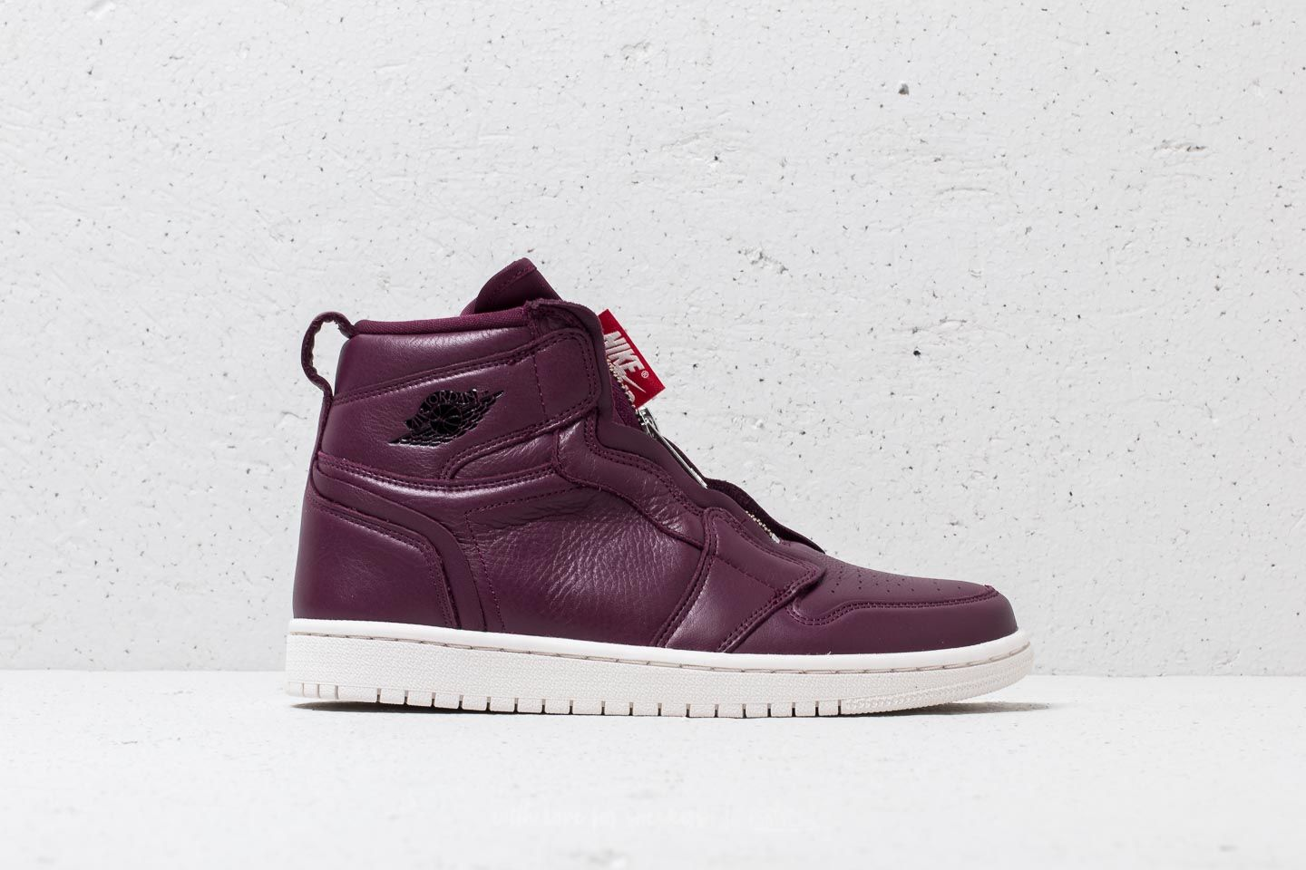 3cf1a93d95c0a5 Air Jordan 1 Hi Zip Wmns Premium Bordeaux  Black-Phantom at a great price